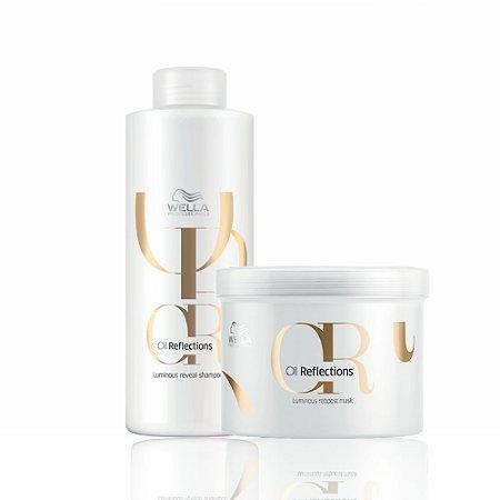 Kit Oil Refections Shampoo 1 Litro + Máscara 500ml Wella Professionals
