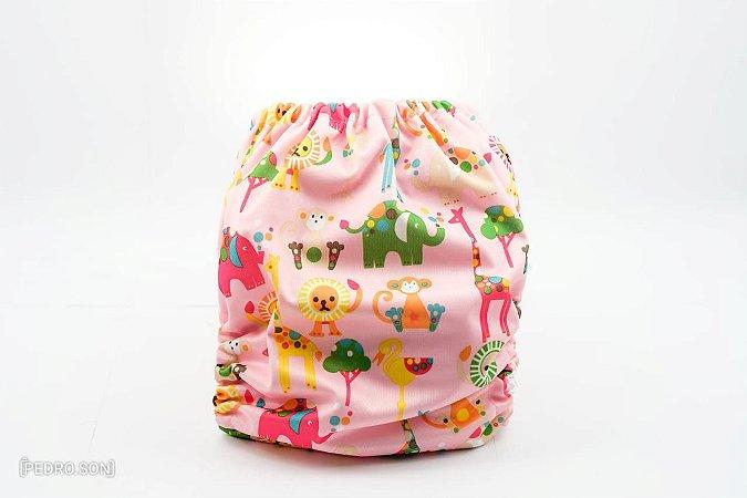 Fralda Reutilizável - Safari Rosa