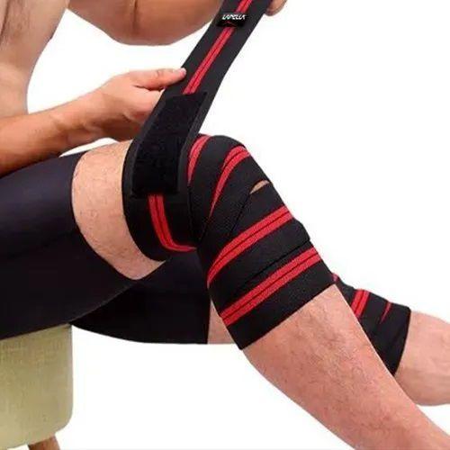 Faixa Elastica Proteção Joelho Par Musculação