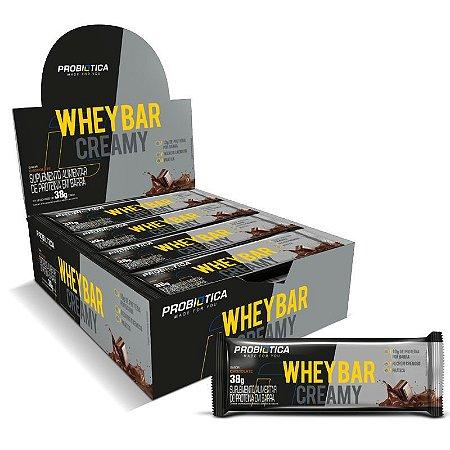 Whey Bar Creamy Display C/12 Barra De Proteína - Probiótica