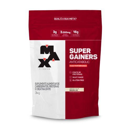 Super Gainers - 3kg Max Titanium - Hipercalórico