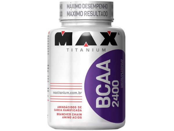 BCAA 2400MG - 200 CÁPSULAS MAX TITANIUM