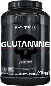 Glutamina 1kg Caveira Preta - Black Skull