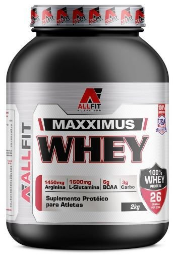 Whey Maxximus Isolada 2kg - All Fit Nutrition