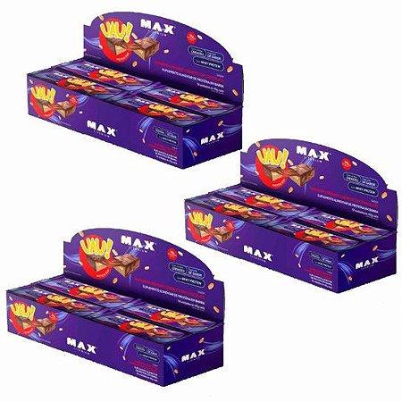 UAU PROTEIN BAR (540g) - Amendoim Cremoso Coberto Com Chocolate - Max Titanium - 12 UNIDADES
