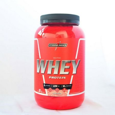 Nutri Whey Pote 907g - Integralmédica - Morango