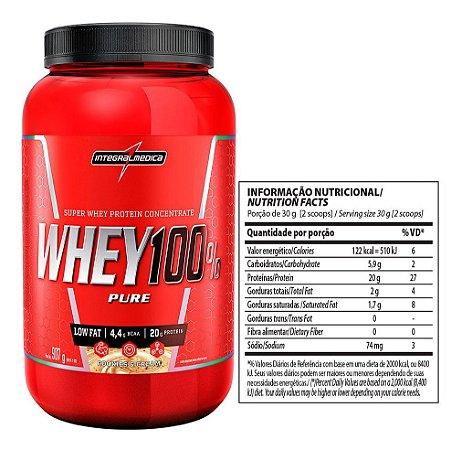Whey 100% Pure 907g - Integralmedica - Cookies e cream