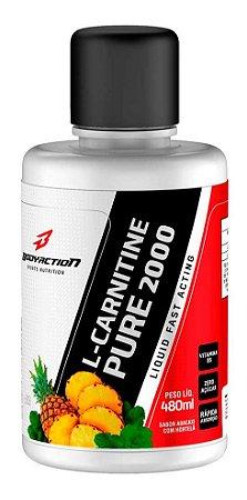 L-Carnitine Pure 2000 Liquid - 480ml - BodyAction - Body Action - Abacaxi com hortelã