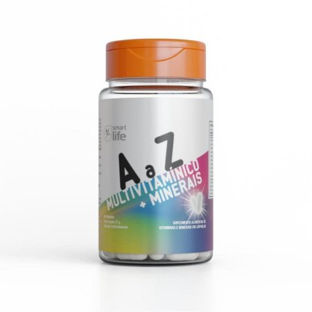 Multivitamínico + Minerais A a Z 60 cáps. 37g - Smart Life