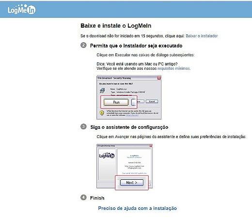 Suporte Remoto - LogMeIn