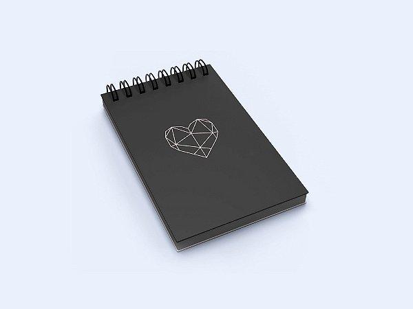 Bloco de Anotações Black Heart