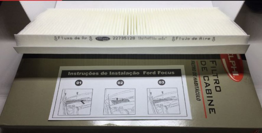 Filtro Ar Condicionado Original Delphi - Ford Focus ( 98 à 08)