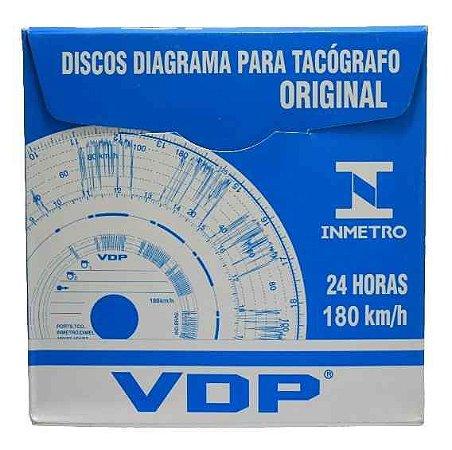 Disco Diagrama Tacógrafo Diário 180 Km Vdp - 12 peças