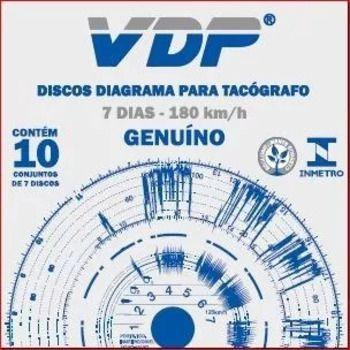 Disco Diagrama Tacógrafo Semanal 180km Vdp - 12 peças