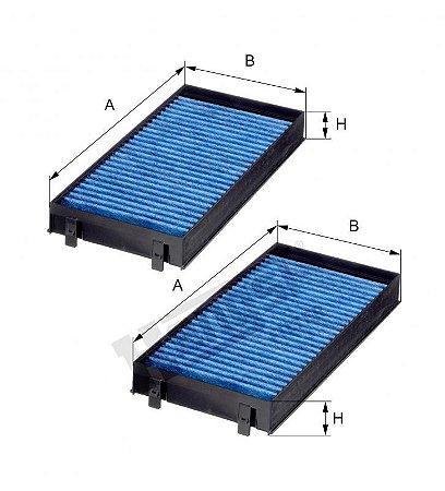 Filtro Ar Condicionado Bmw X5 X6 Hengst Original Blue Care