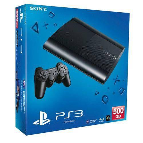 Console Playstation 3 Super Slim - 500GB - Com 65 Jogos no HD