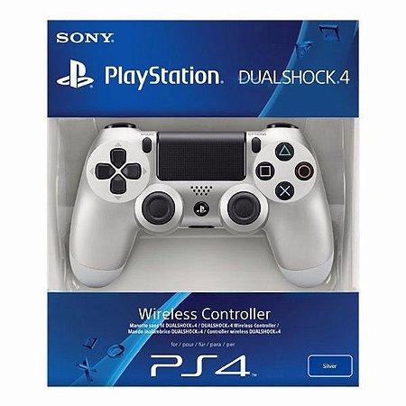 Controle Playstation Dual Shock 4 Ps4 Original - Prata