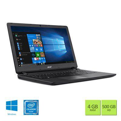 "Notebook Acer Intel Celeron Quad Core 4GB RAM 500GB HD 15.6"" - Windows 10"