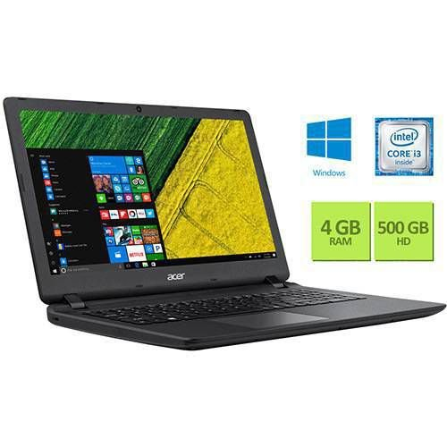 "Notebook Acer ES1-572-360J Intel Core i3 4GB 500GB Tela 15.6"" Windows 10 - Preto"