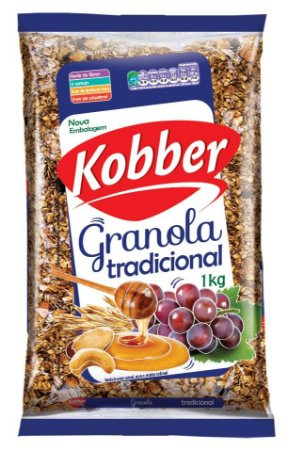 Granola Tradicional Kobber 1kg - Mel, Passas e Castanha