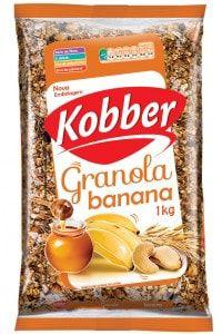 Granola Kobber Banana, Mel e Cereais - 1kg