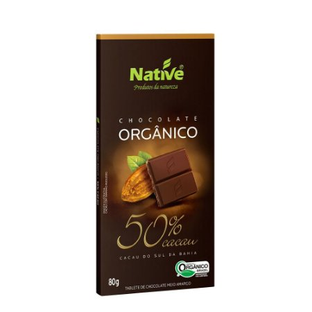 Chocolate Orgânico Native 50% Cacau
