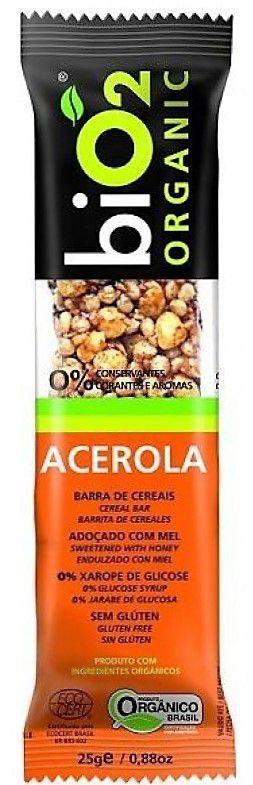 Barra de Cereal Orgânica Sabor Acerola Bio2 25g