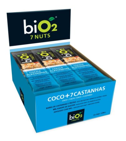 Barra de Cereal Bio2 Coco + 7 Castanhas 12un de 25g