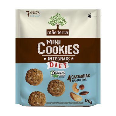 Cookies Orgânicos Diet 4 Castanhas 120g