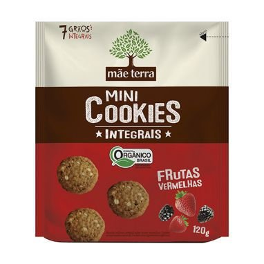Cookies Orgânicos Frutas Vermelhas 120g