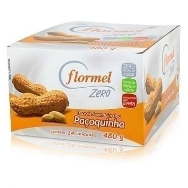 Paçoca Zero Açúcar Flormel - 24unid x 20g