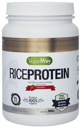 Proteína de Arroz - Rice Protein Raw Morango Vegan Way 900g