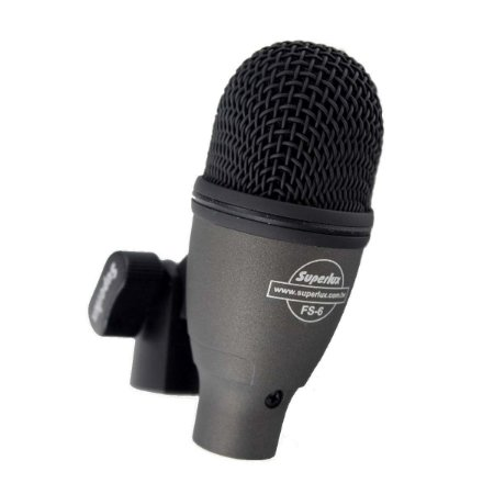Microfone Caixa Bateria Conga Superlux Fs6 Supercardioide
