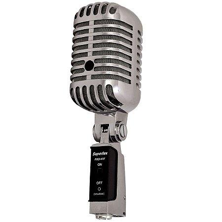 Microfone Vocal Superlux PRO-H7F Metal Cromado Classic