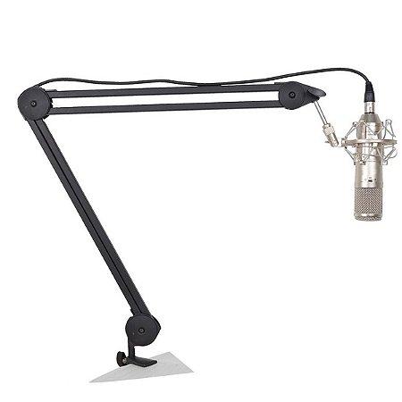 Suporte Pedestal Para Microfone Vocal Superlux Hm58b De Mesa