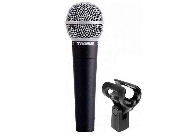 Microfone Com Fio Superlux Tm58 Canto Vocal Profissional