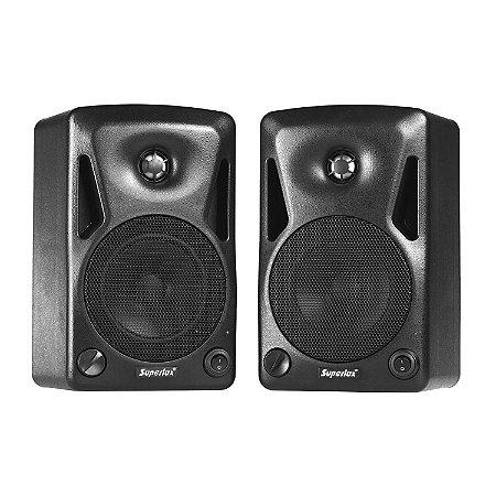 Caixa Monitor de Audio Superlux BES-5A kit 2 Peças