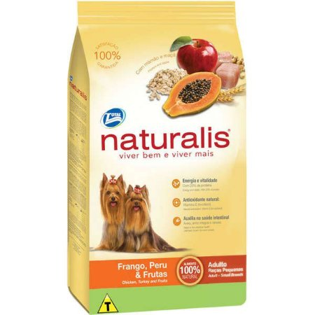 Naturalis Adultos - Raças Pequenas  Frango/Per/Fruta 2kg