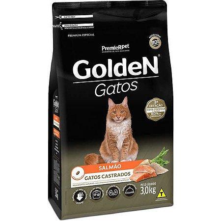 Golden Fórmula Gato - Castrado - Salmão 3kg