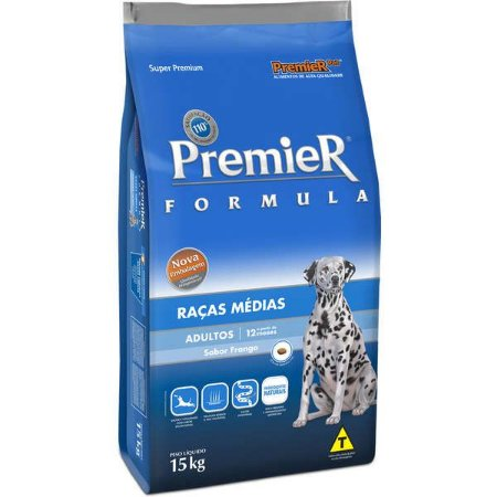 Premier Fórmula Adultos - Raças Médias 15kg