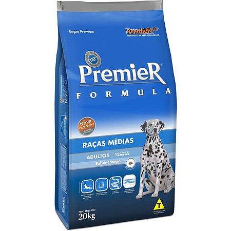Premier Fórmula Adultos - Raças Médias 20kg