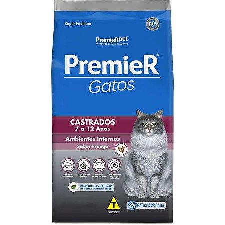 Premier Gatos Adultos - Castrados - 7/12 Anos 7,5kg