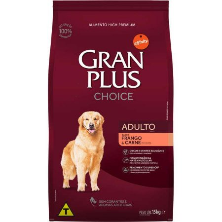 Gran Plus Cães Adultos - Choice 15kg