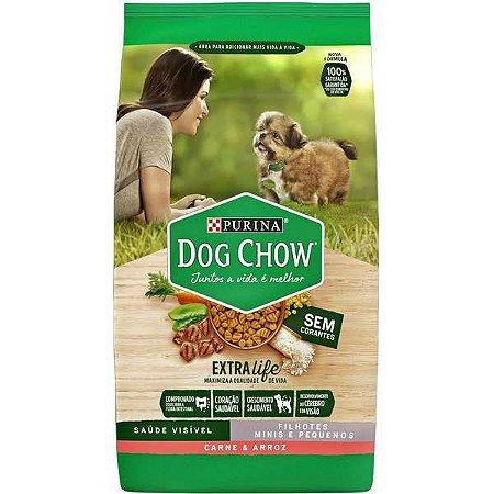 Dog Chow Pet Esp Filhote Raças Pequenas Carne 3kg