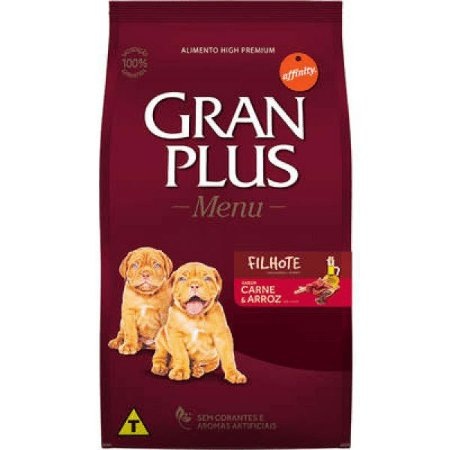 Gran Plus Cães Filhote - Carne/Arroz 3kg