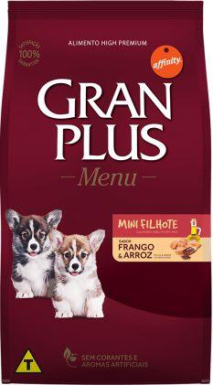 Gran Plus Cães Filhote - Menu Mini Frango 3kg