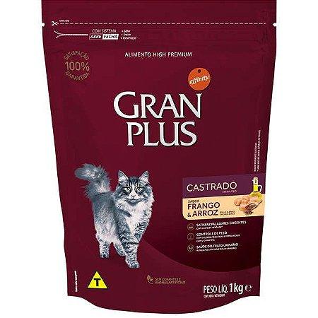 Gran Plus Gatos Castrados - Frango/Arroz 1kg