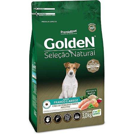 Golden Seleção Natural Adultos - Raças Pequenas - Frango/Arroz 3kg