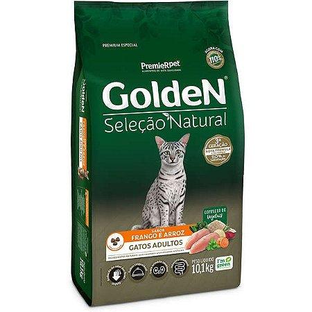 Golden Seleção Natural Gatos Adultos - Frango/Arroz 10,1kg