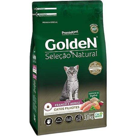 Golden Seleção Natural Gato Filhote Frango/Arroz 3kg
